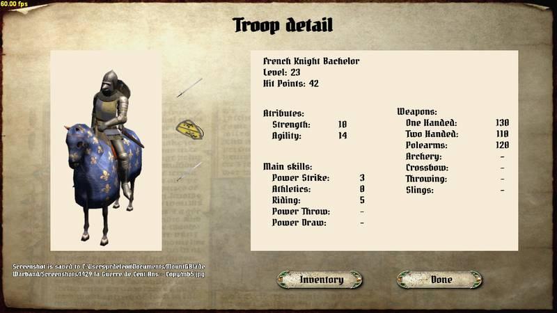 [SP][EN] 1429 La Guerre de Cent Ans - La Relance GHMUI